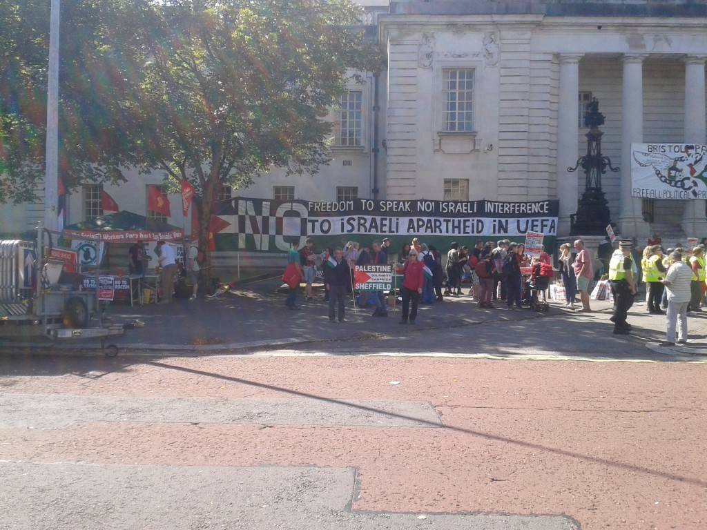 Gathering for the March in Cardiff, Sunday 5th September