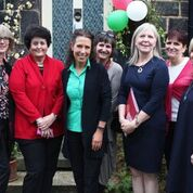 Dr Mona El Farra and local MP Debbie Abrahams with Saddleworth PWSF supporters