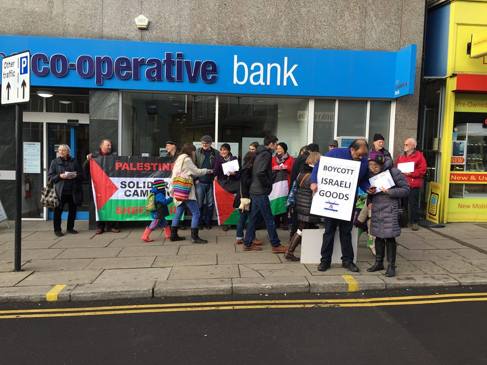 Sheffield PSC in front of Pinstone Street Branch Sheffield