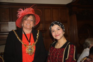 Lord Mayor Cllr Fox and Kholoud Ajarma
